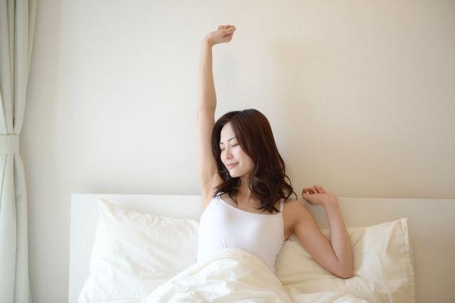 ぐっすり眠れた女性